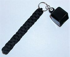 Billard Pool Cue Chalk Holder Made Of Paracord, All Black In Color