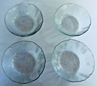 "ARCOROC FRANCE Canterbury Crocus Pattern 6.25"" Salad Cereal Bowls- Set of 4"