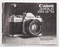Bedienungsanleitung Canon AT-1 Anleitung