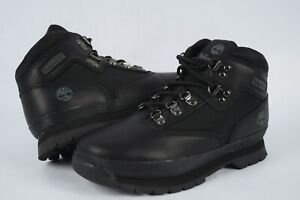 NIB! Youth Timberland Euro Hiker Mid Boots Black sz 1-3 Leather 096748 001