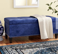 """42"""" Upholstered Navy Blue Home Storage Ottoman Bench Home Furniture"""