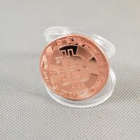Solid Copper Commemorative Bitcoin Gift Collectible Golden Iron Miner Coin XN18