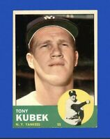 1963 Topps Tony Kubek #20 Baseball Card New York Yankees HOF