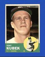 1963 Topps Tony Kubek #20 Baseball Card New York Yankees HOF