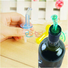 4X Bottle Pourer Pour Spout Stopper Dispenser Liquor Flow Olive Wine Oil Set #