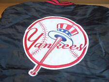 BRAND NEW MLB NEW YORK YANKEES MAJESTIC SATIN SNAP FRONT JACKET BASEBALL XXL