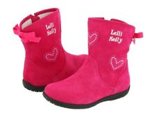 New Toddler Girl Lelli Kelly Hot Pink Fuscia Suede Boot Size 24 7