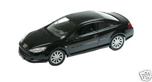 1:18 SCALE WELLY PEUGEOT 407 COUPE BLACK DIECAST