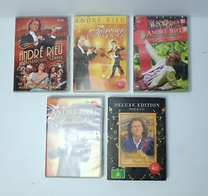 Lot of 5 x Andre Rieu DVD's At Schonbrunn, Forever Vienna, On Holiday.......