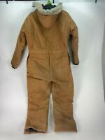 Carhartt 968QZ Size 42S Brown Duck Quilted Insulated Work Coveralls With Hood!