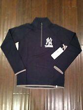 New York Yankees NEW Women's Large Showdown 1/4 Zip Shirt MLB Baseball Navy NWT