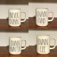 Rae Dunn Collection By Magenta NEVER DUNN, DUNN FUND, DUNN HUNTER, DUNN LIFE Mug