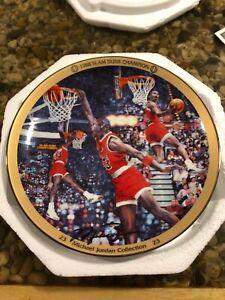 "Bradford Exchange Michael Jordan Collection ""1988 SLAM DUNK CHAMPION"" Plate-COA"