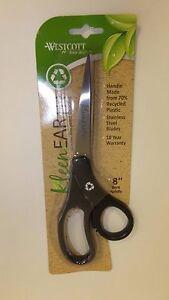 """Westcott Kleen Earth 8"""" Bent Handle Scissors (15584)"""