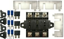 (3) 40 Amp Stack-able In-line Fuse Panel Distribution Block ATO/ATC & ATM/MIN