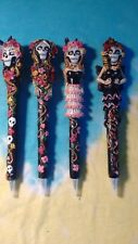 Day Of The Dead Ladies Sugar Skull Set of 4 Novelty Writing Pens