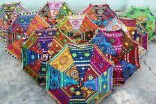 10 Pc Indian Decorative umbrella Designer Vintage Handmade Cotton Sun Parasol