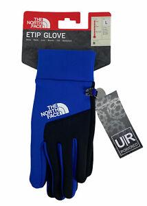 NEW The North Face Etip Winter Unisex Soft Shell Gloves Blue Black UR Powered