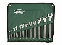 KAMASA 56053 12 PIECE METRIC 6mm > 22mm SPANNER WRENCH SET with TOOL ROLL