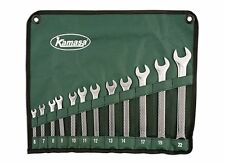 SUPER! KAMASA 12 PIECE METRIC 6mm   22mm SPANNER WRENCH SET + ROLL