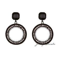 1Pair Fashion Womnen Lady Long Tassel Boho Drop Dangle Ear Stud Hoop Earrings