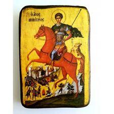 Icon of St. Dimitrios, Greek Russian Christian Orthodox, Agios Dimitrios Wood A0