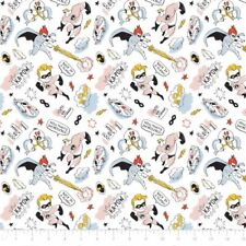 Disney The Incredibles Sketchy White Camelot 100% cotton fabric by the yard