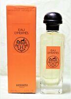 HERMES Eau D'Hermes (3.3oz/100ml) Eau de Toilette {Immaculate-NIB}