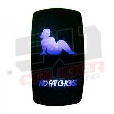 50Caliber No Fat Chick On/Off Led Rocker Switch Waterproof Blue Illuminating