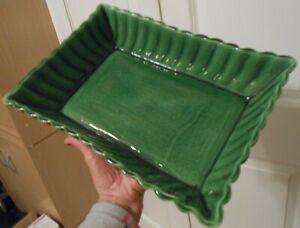 Camark Flower Pot Planter 12 x 8 Green # 580 Vintage Mid Century