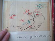 1805 MAPPA CON AZIONI NAPOLEONICHE A OLMUTZ PRIMA DELLA BATTAGLIA DI AUSTERLITZ