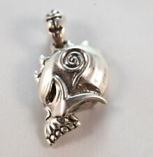 Warrior Skull Sterling Silver Pendant