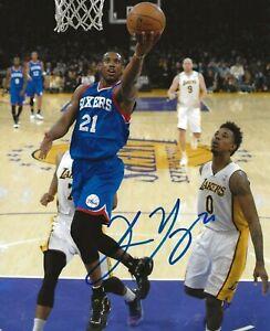 Thaddeus Young signed Philadelphia 76ers 8x10 photo autographed 3