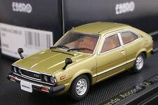 Ebbro 1:43 scale Honda Accord EX CVCC Hatchback 1976 Die Cast Model Car (Gold)