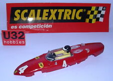 SCALEXTRIC SPAIN ALTAYA COCHES MITICOS  CARROCERIA FERRARI 156 SHARKNOSE F1 #4