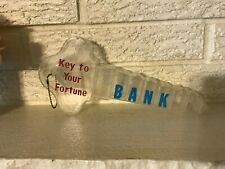 Vintage Shaped Key To Your Fortune Coin Bank Jackson Tennessee