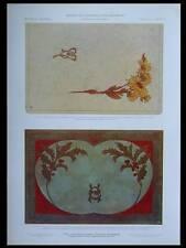 BUVARD ET SOUS-MAIN, ART NOUVEAU -1908 - LITHOGRAPHIE, CUIR, JEHAN RAYMOND,