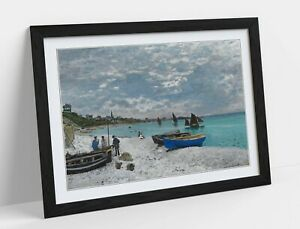 CLAUDE MONET THE BEACH AT SAINTE ADRESS -ART FRAMED POSTER PICTURE PRINT ARTWORK