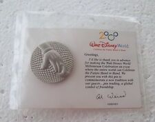 *~* DISNEY WDW CM RETIRED MILLENIUM HAND IN HAND GLOBAL SYMBOL SILVER PIN  *~*