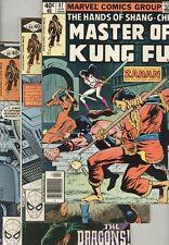 Master of Kung Fu #87 through #101 VG/FN