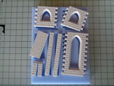 Stone Buildings Mould, Tall Church Windows - NS09 for Model Railways - OO Gauge