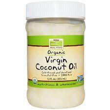 NOW Foods ORGANIC VIRGIN COCONUT OIL Cold-Pressed Pure 12 fl oz UNREFINED