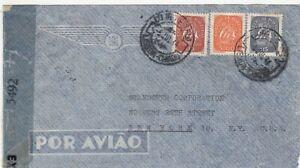 Portugal: Censored Airmail Cover: E.Kaupmann, Lisbon to New York, 5 July 1944