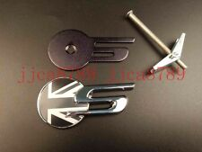 NEW Jaguar XFS XFS Black and white british flag  F-Pace Grille Badge Logo Emblem