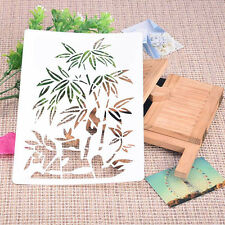 Bamboo Soft Plastic Reusable Template Stencil Spray Paint Mould Home Garden 1pcs