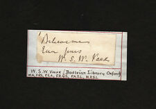 autograph of W. S. W. VAUX antiquary British Museum SIGNED William Sandys Wright