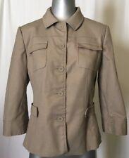 T Tahari 3/4 Sleeve Khaki Jacket Size 10