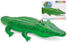 168cm Hinchable Gator Cocodrilo Infantil agua juguete montable PLAYA PISCINA
