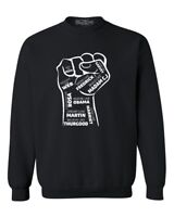 Influential Inspiring Black Leaders Fist Crewnecks Civil Rights Sweatshirts