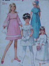 "Vintage 1960s Simplicity Bridesmaids Dresses Sewing Pattern #7156 Chest 30"" 76cm"